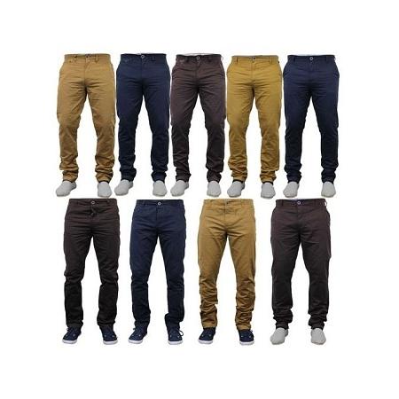 4 Pack Khaki Trousers Black,Brown ,Beige,Navy Blue