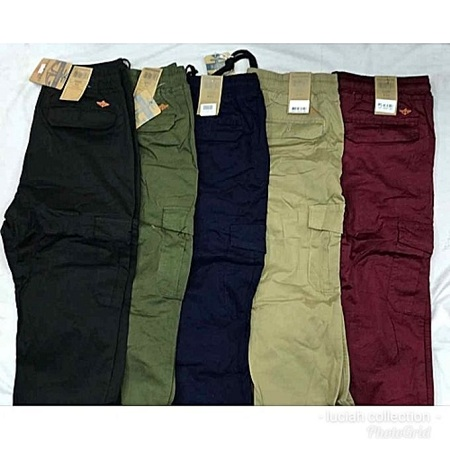 Men elegant cargo pants