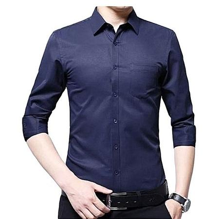 Slim Fit Official Men's Shirt [Navy Blue]