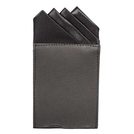 Pocket Square Four Pointed Black