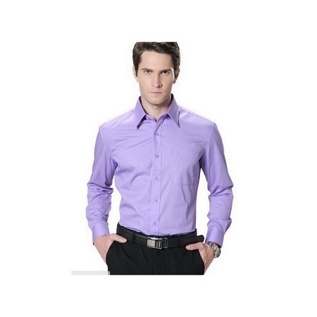 Official Shirt Long Sleeve-slim fit For Men Purple