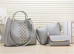 Ladies Handbag Fashionable Full Set - 3 in 1