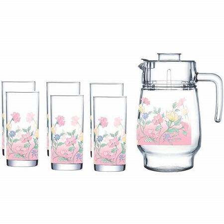 Tableware Serving Juice/Water Glasses Jug Set - 7pcs