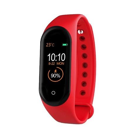 Generic M4 Smart Bracelet Heart Rate 135Mah Color Screen Waterproof count step red