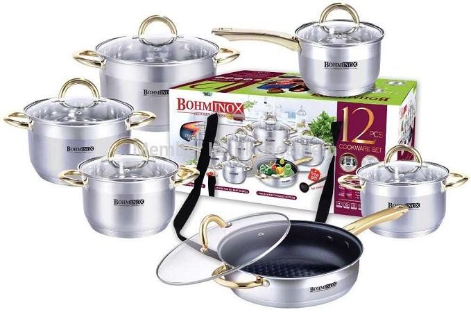 Bohminox 12pc Heavy cooking pots