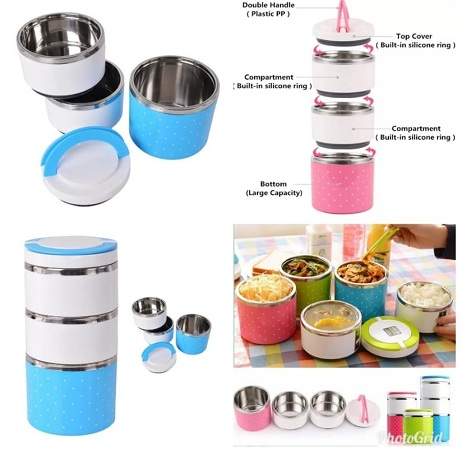 Colorful Thermal Lunch Box Stainless Steel Food Storage Container