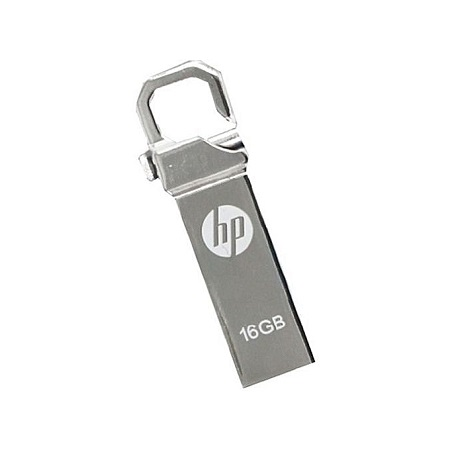 HP 16 GB - Flash Disk with clip - Silver