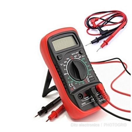 LCD Digital Auto Range Clamp Multimeter Tester AC DC Volt OHM Meter RD