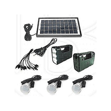 GDLITE GD-8017 Solar Kit with LED Lights and Phone Multi Charger