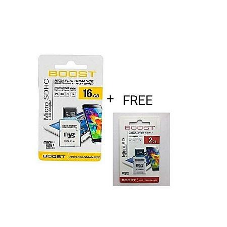 16 GB Memory Card + FREE (2GB MEM CARD)