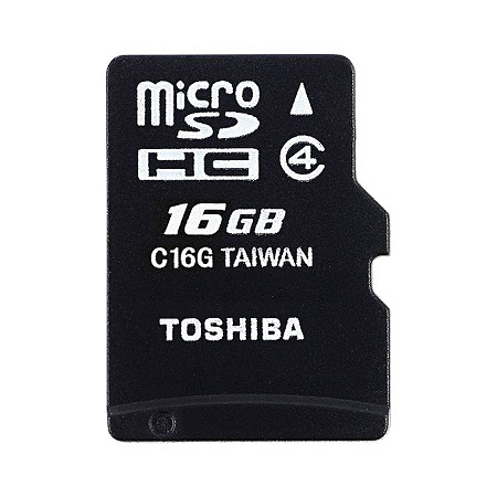 Toshiba Micro SD Memory Card - M102 - 16GB - Black