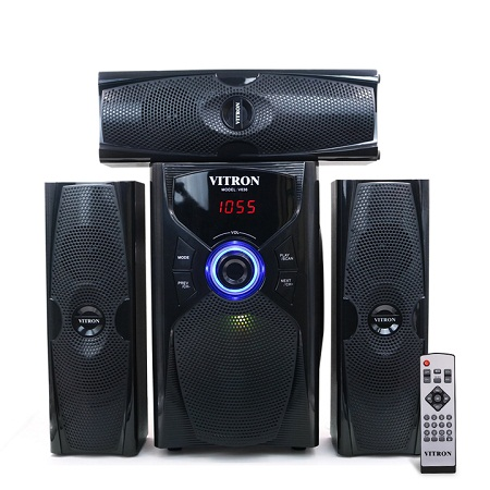 VITRON V636 Sound System 2.1 Functional Remote Speaker Subwoofer black 60w v636