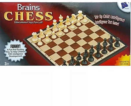 Chess strategy Board Game for Brain Development 3yrs Plus brown small