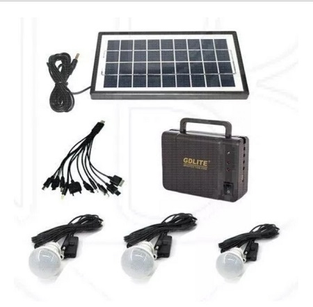 GDLITE GD-8006- Elegant Solar Lighting System - Black black