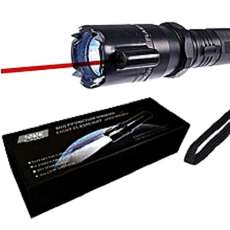 Self Defense Police Torch with Electric shock Black Standard