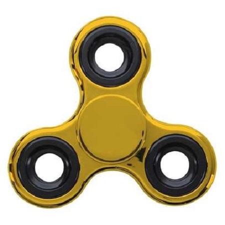 Tri-Spinner Fidget Toy EDC Hand Spinner - Gold Gold normal
