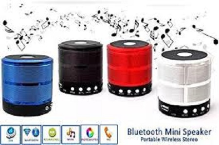 UNIVERSAL WS-887 - Mini Bluetooth Wireless Stereo Speakers FM, Memory Card, Bluetooth, USB - Silver
