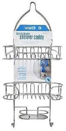 bathroom organisers vertical fit shower caddy gray