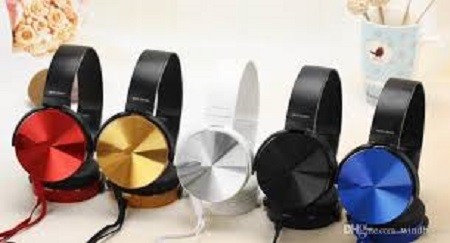 generic mdr-xb450 headphones black normal