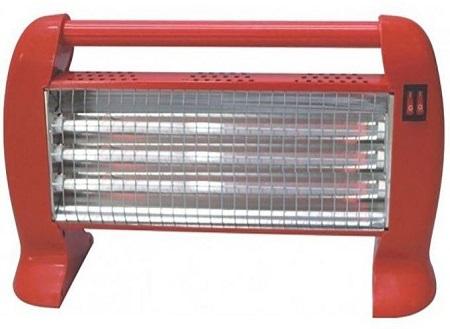 ketao 1200w elegant halogen room heater red