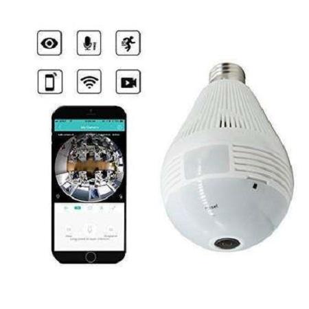 wifi wireless cctv bulb camera white