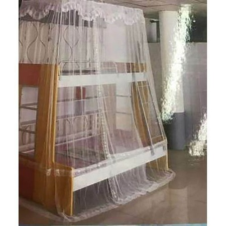 Generic Double Decker Mosquito Net Free Size- (White)