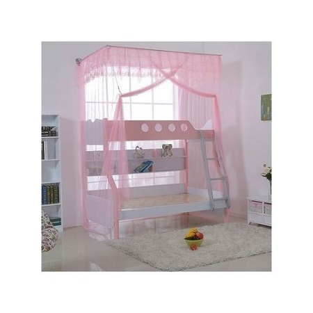 Generic Double Decker Mosquito Net Free Size- (Pink)