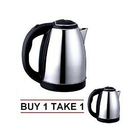 Electric Kettle (Electric And Cordless) + An Extra FREE Electric Cordless Kettle Silver