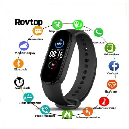 M5 Smart Watch Heart Rate Monitor
