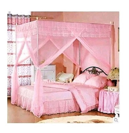 Mosquito Net With Metallic Stand - 6X6 Pink