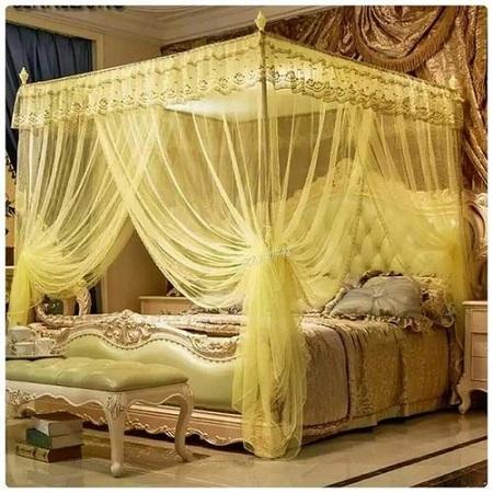 Mosquito Net With Metallic Stand - 6X6 Cream