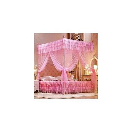 Mosquito Net With Metallic Stand - 4X6  Pink
