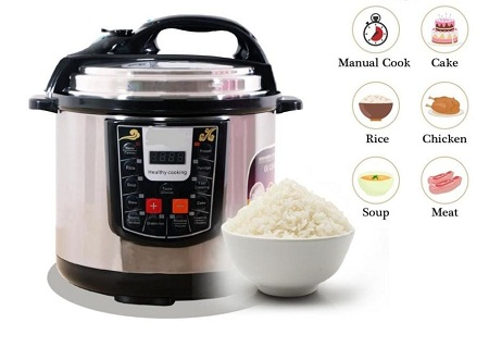 Nunix Electric Pressure Cooker & Rice Cooker 1000W - 5L