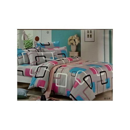 Duvet set 4pc (with 1 duvet,1 bedsheet and 2 pillow cases)