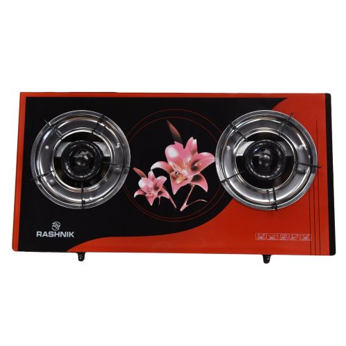 Rashnik TWO BURNER GLASS GAS TOP COOKER