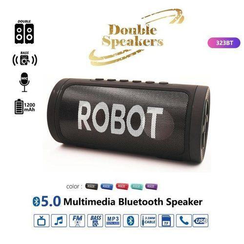 Robot Multimedia Bluetooth Double Speaker - Black