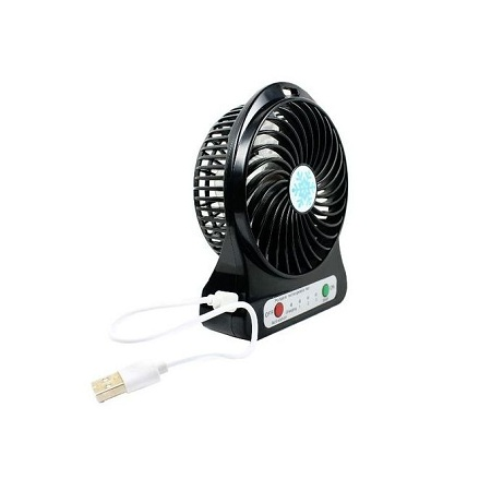 Portable Rechargeable hand held air cooler18650 -black
