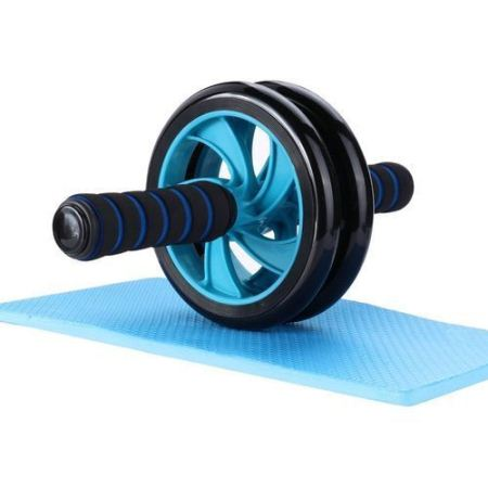 AB Wheel Double Wheel Fitness Abs Roller With FREE Mat