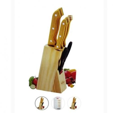 Kitchen Knife Set Sith Wooden Stand