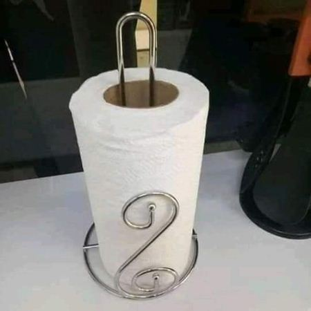 Stainless Steel Kitchen Tissue Holder - Napkin Roll Holder