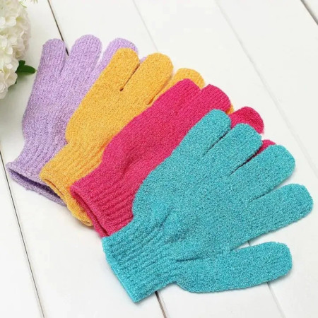 Shower Bath Gloves Exfoliating Wash Skin Spa Massage Scrub