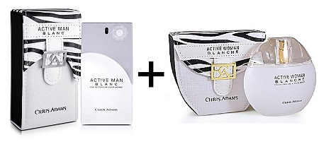 Chris Adams Active Man & Woman Blanc 2in1 Pack