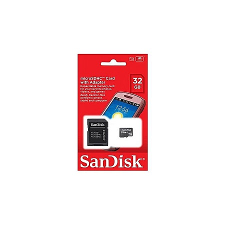 Sandisk 32GB Card microSDHC Card With Adapter