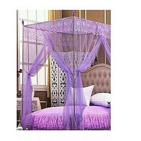 Universal Mosquito Net with Metallic Stand - Purple