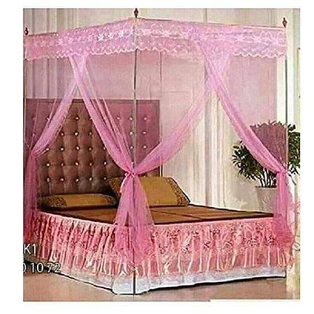 Universal Mosquito Net with Metallic Stand - Pink