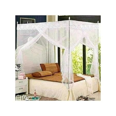 Universal Mosquito Net with Metallic Stand - White