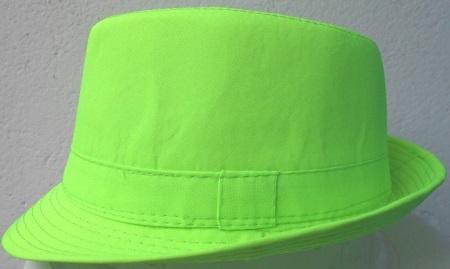 a64ea9ea48 Unisex Fedora Trilby Hats Neon green m l (58-59cm) Online at ...