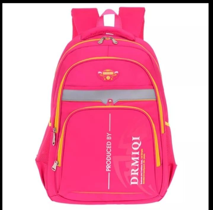 school Backpack -rose pink