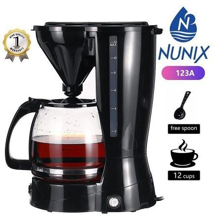 Nunix Coffee Maker Machine - 12 Cups