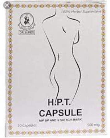 Dr. James Hip Up & Stretch Mark Capsule, 500mg 30 Capsules